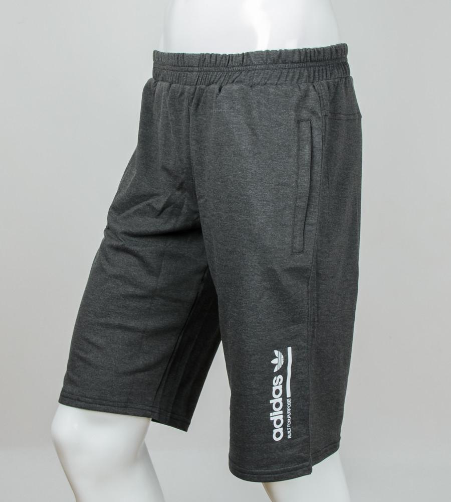 """Шорты мужские батал """"Adidas"""" (Ш002б) , Т.Серый"""
