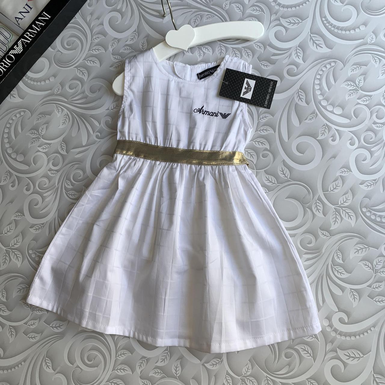 Белое нарядное платье Armani