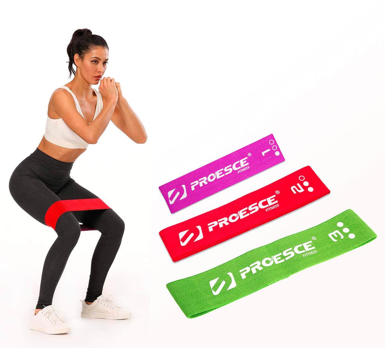 Тканевые фитнес резинки Go-Flow ( Set of 3)