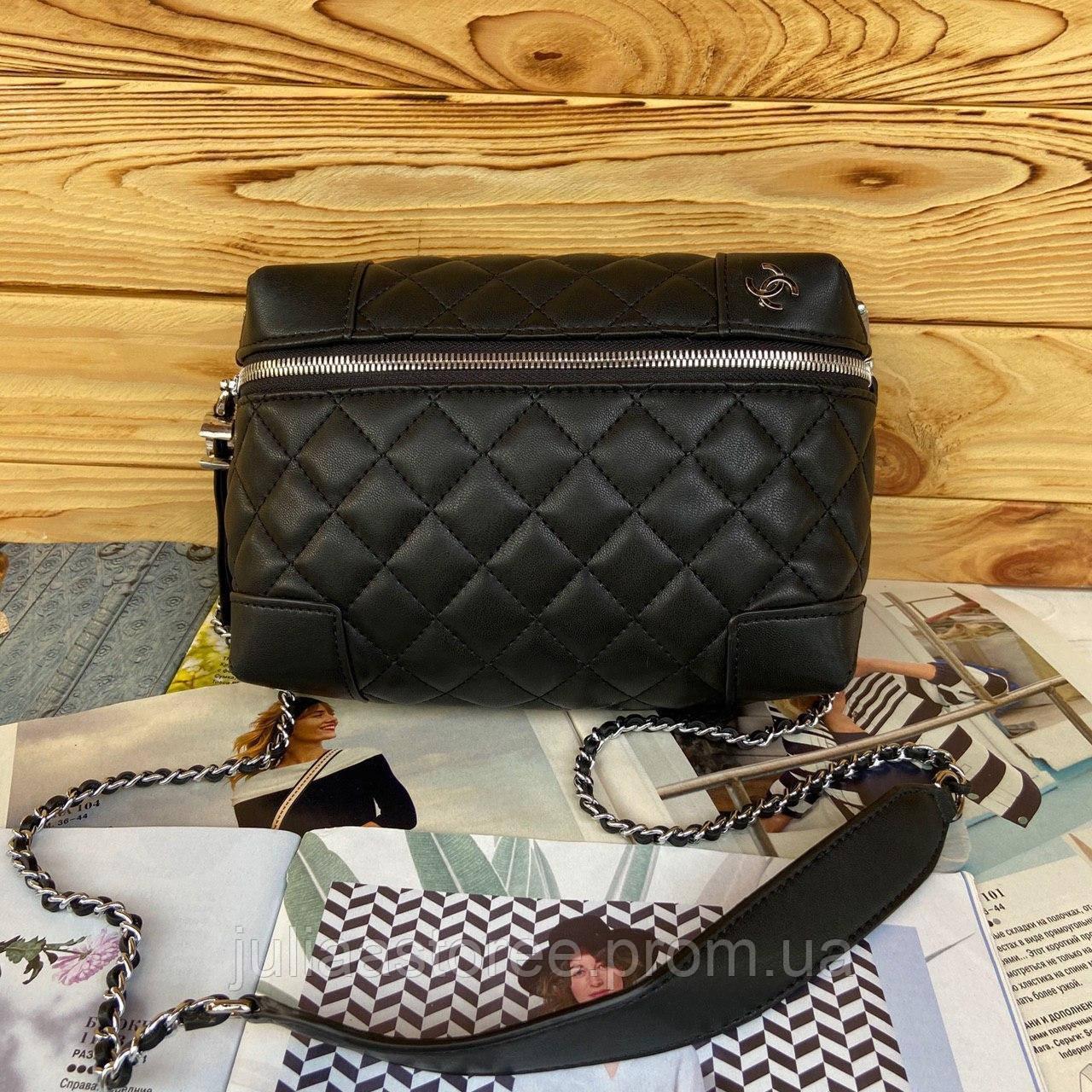Женская сумка на цепочке через плечо Chanel Шанель реплика 2