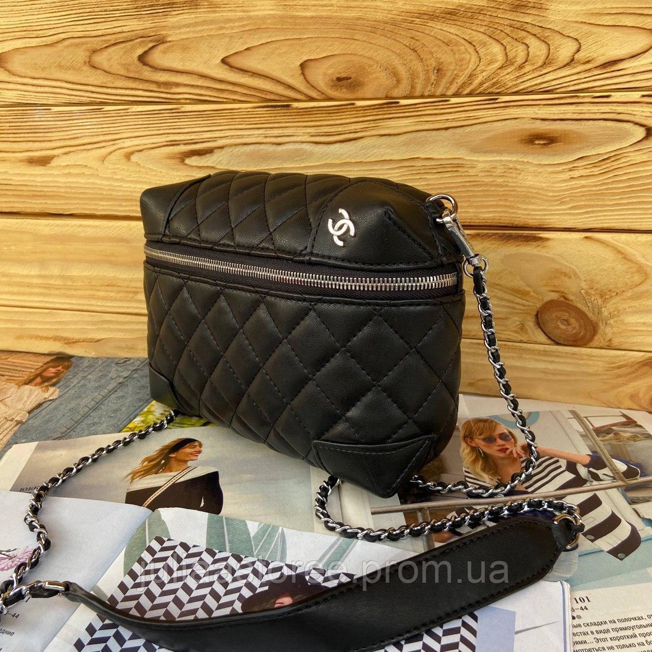 Женская сумка на цепочке через плечо Chanel Шанель реплика 4