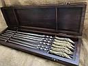 """Набор шампуров с бронзовыми ручками """"Щука """" в кейсе из натурального дерева, фото 2"""