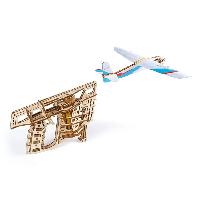Механический 3D-конструктор Ugears «Пускатель самолетиков»