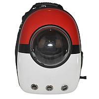 Рюкзак-переноска с иллюминатором Jusenda U-Pet для кошек и собак Красно-белый MTDZ25101914, КОД: 1334080