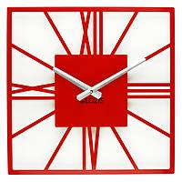 Настенные Часы Glozis New York 35х35 см Красный B-025, КОД: 285342