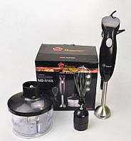 Блендер с чашей Domotec MS-5103 3в1, Ручной погружной блендер, Миксер, Кухонный комбайн, Кухонный измельчитель