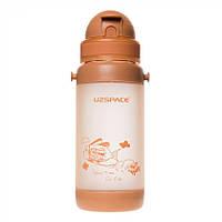 Пляшечка - поїльник з трубочкою UZspace 3039 baby 320 мл, бежева, фото 1