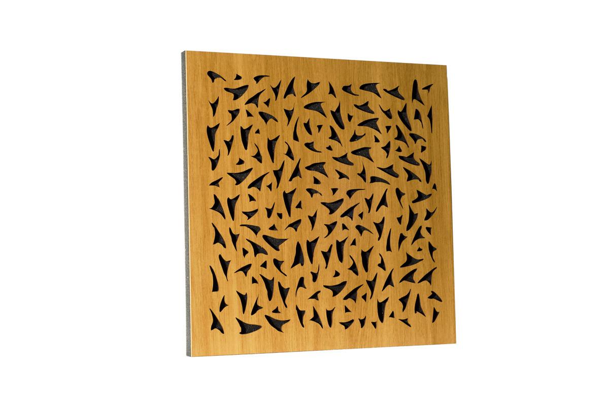 Акустическая панель Ecosound EcoFly cream 50х50 см 33мм цвет светлый дуб