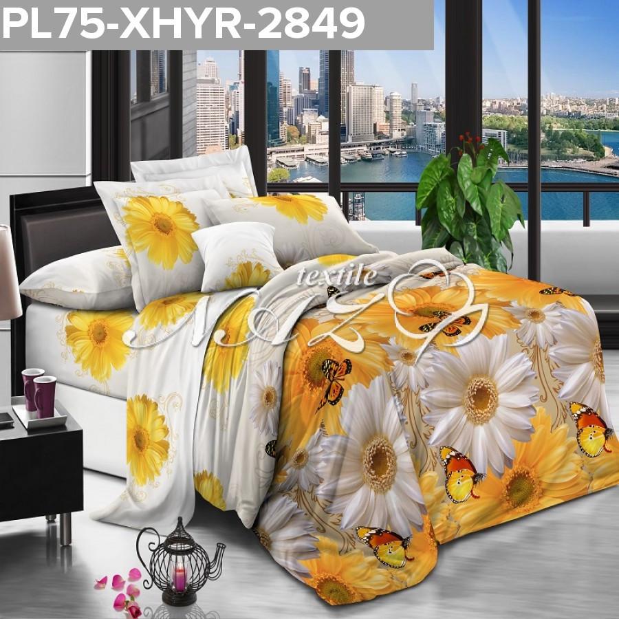 Семейный постельный комплект желтая хризантема