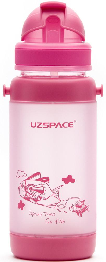 Пляшечка - поїльник з трубочкою UZspace 3039 baby 320 мл, рожева