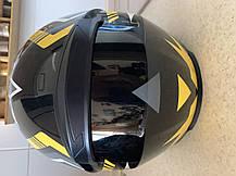 Чёрный шлем интеграл полнопрофильный  глянец с Тонированным визором, фото 3
