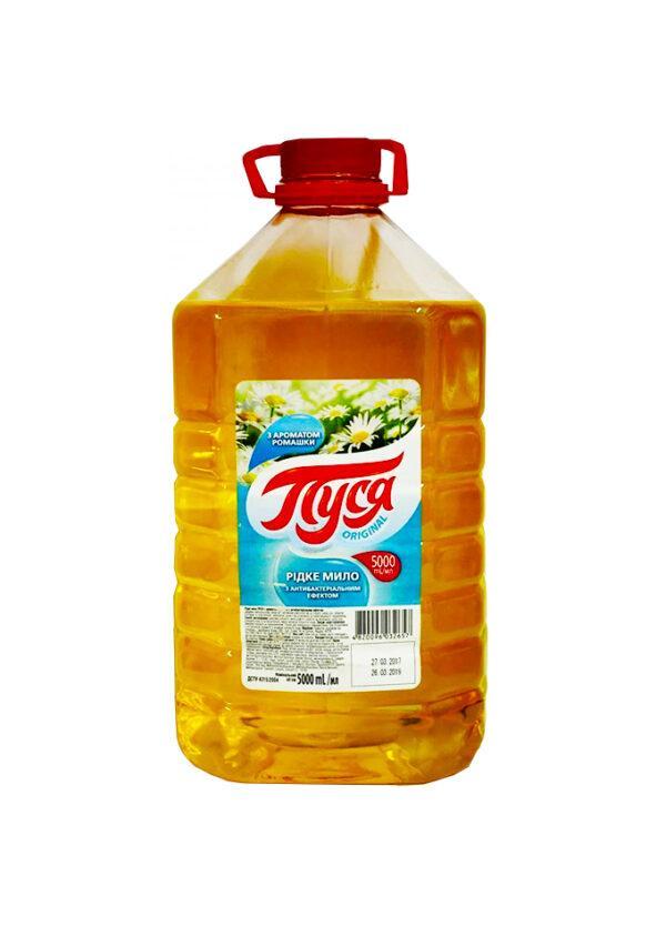 Жидкое мыло антибактериальное «Пуся» с ароматом Ромашки 5 л