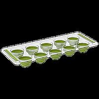 Форма для льда силиконовая зеленая