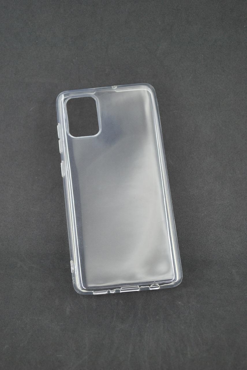 Чехол Samsung A41/A415 Silicon TPU Transparent Прозрачный