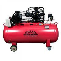 Компрессор Vitals Professional GK150.j653-12a3 (3 фазы, 3 кВт, 516 л/мин, 150 л), трёх цилиндровый, ременной