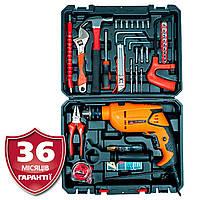 Дрель электрическая ударная Vitals Et 1371BX + набор ручных инструментов из 30 предметов