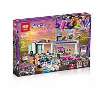 """Конструктор Lepin 01071 """"Мастерская по тюнингу автомобилей"""" (аналог Lego Friends 41351), 462 детали"""