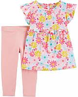 Стильный комплект двойка для девочки Carters 69 -72 (9 месяцев) розовый