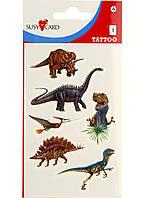Набор тату Susy Card Динозавры, 6 шт Разноцветный R2-11034001, КОД: 1760827