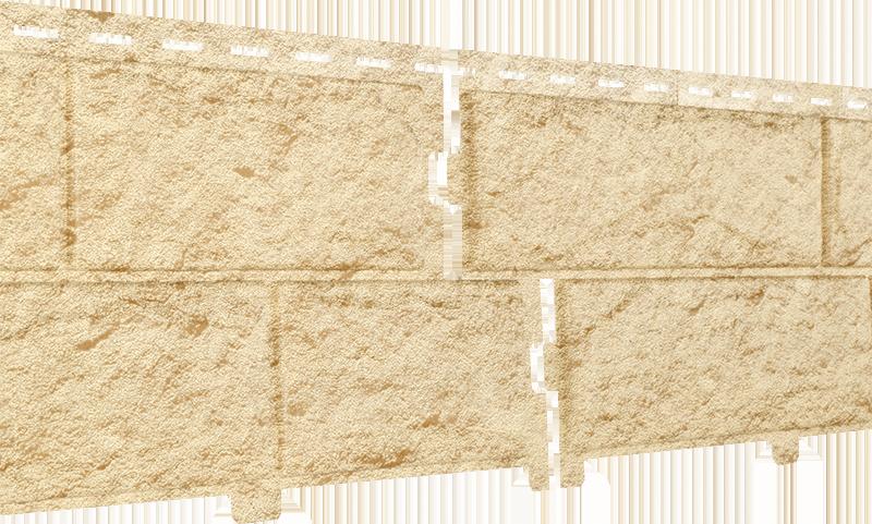 Фасадные панели U-Plast Stone House Камень (золотистый)