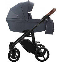 Детская универсальная коляска 2 в 1 Bebetto Luca (06) Темно-серый / Черная рама