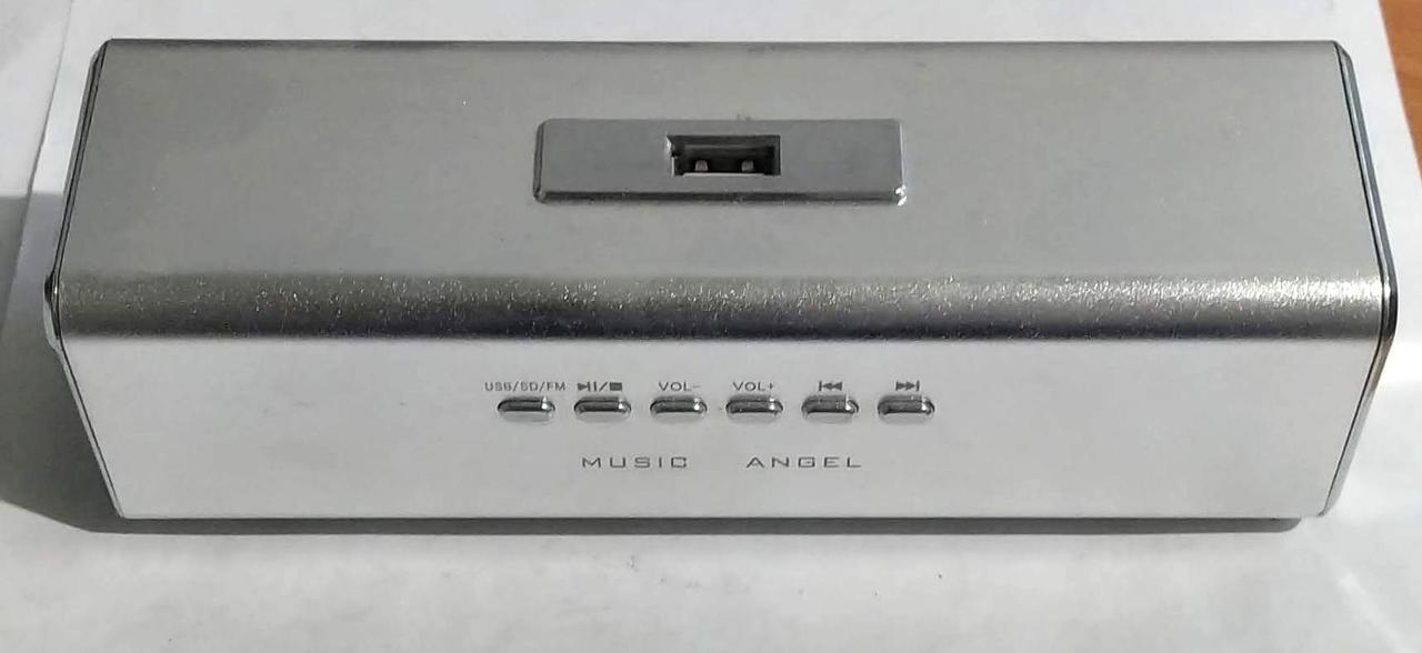 """Портативна колонка, радіоприймач (USB/SD/FM) """"UK-2"""" Silver"""