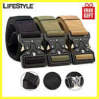 Тактический нейлоновый ремень Tactical Belt 125 см / Армейский ремень + Подарок