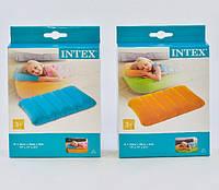 Подушка велюровая подголовник Intex 68676 размер 43*28 см