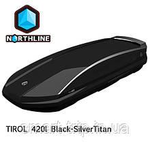 Бокс Northline Tirol 420 л Wing Black-SilverTitan черный глянцевый N0719011