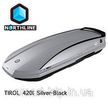 Бокс Northline Tirol 420 л Wing Silver-Black срібний глянцевий N0719013