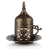 Турецкая чашка Демитассе для кофе 60 мл, цвет: Медь