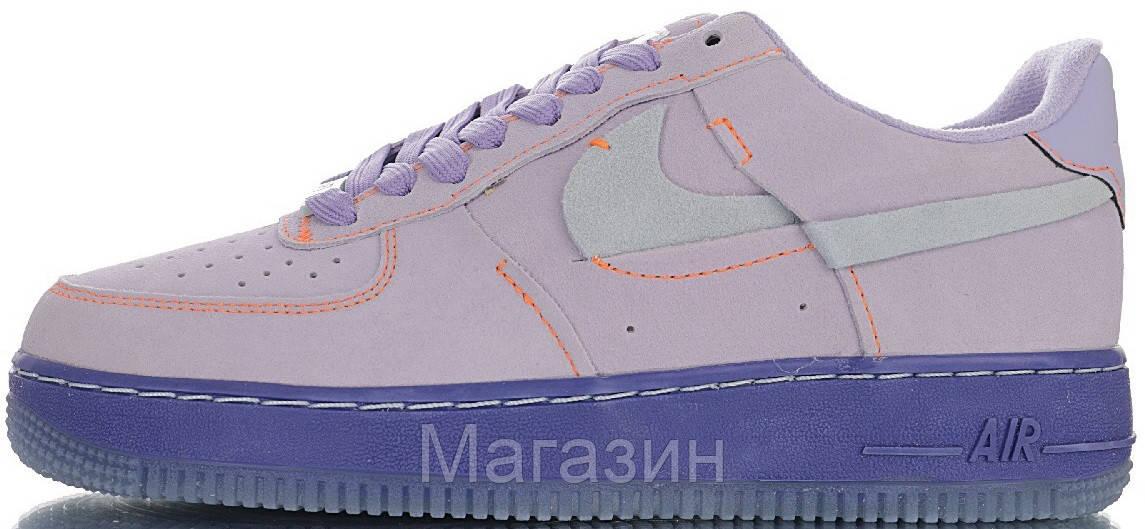 Женские кроссовки Nike Air Force 1 '07 LX Purple Agate Найк Аир Форс замшевые CT7358-500