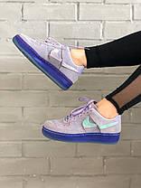 Женские кроссовки Nike Air Force 1 '07 LX Purple Agate Найк Аир Форс замшевые CT7358-500, фото 2