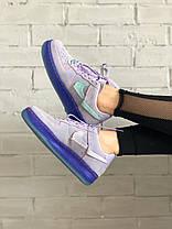 Женские кроссовки Nike Air Force 1 '07 LX Purple Agate Найк Аир Форс замшевые CT7358-500, фото 3