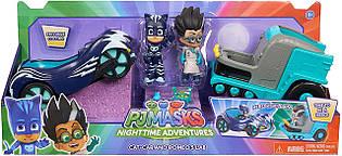 Набор Герои в масках Кэтбой и Ромео на машинах PJ Masks Cat-Car and Romeo' s Lab 2 Pack Vehicle Set