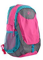 Рюкзак спортивный YES SL-01 женский водоотталкивающий малиновый (557502)