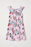 H&M летнее легкое Платье с рисунком обезьянок размер 8-9 лет рост 134-140