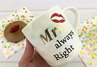 Керамічний кухоль з кришкою MRS RIGHT, фото 1