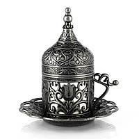 Турецкая чашка Демитассе для кофе 60 мл, цвет: состаренное сереро