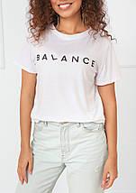 """Футболка женская с принтом """"Balance"""", фото 2"""