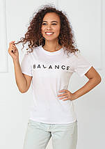 """Футболка женская с принтом """"Balance"""", фото 3"""