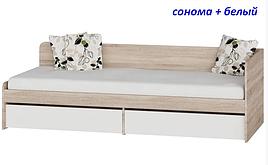 Кровать односпальная с ящиками Эверест Мебель «Соната-800»