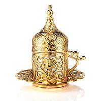 Турецкая чашка Демитассе для кофе 60 мл, цвет:золото