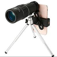 Монокуляр Bushnell 16x52 с треногой и клипсой для телефона