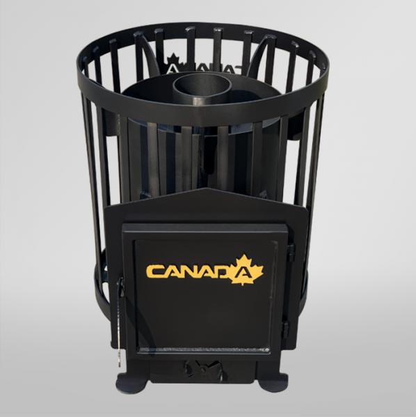 Печь для бани Бочка 15 м³ без выноса (Canada)