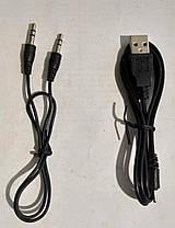 """Портативна колонка, радіоприймач (USB/SD/FM) """"Sertec"""" """"SG-690"""" White (Фонарік), фото 3"""
