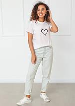 "Белая футболка с принтом ""Heart"", фото 2"