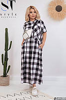 Длинное летние платье большие размеры 52-54. 56-58. 60-62, фото 1