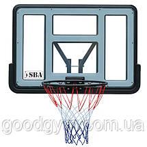 Баскетбольний щит SBA S007 110x75 см, фото 2