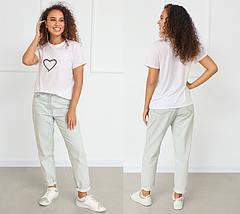 "Белая футболка с принтом ""Heart"", фото 3"